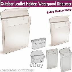 A4, A5, DL/Trifold, Outdoor Leaflet Holders Waterproof Dispenser Exterior Display