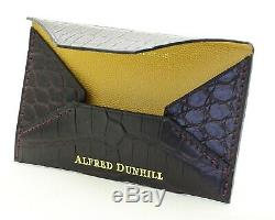 ALFRED DUNHILL WINE CROCODILE BUSINESS OR CREDIT CARD CASE/HOLDER/WALLET-New