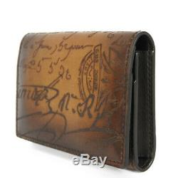 AUTHENTIC Berluti Inbuia Card Case Bifold business card holder Calligraphy