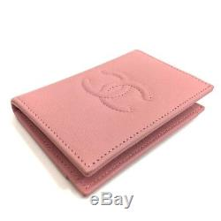 Authentic chanel unused cc leather business card id card holder authentic chanel unused cc leather business card id card holder pink a80954 reheart Choice Image