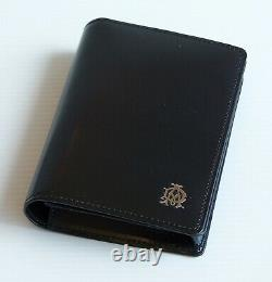 Alfred Dunhill Fine Cowhide Leather Wallet Business Credit Card Case Holder