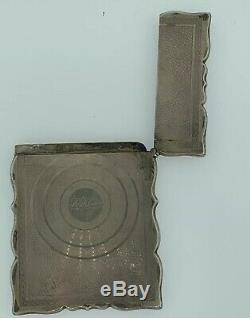 Antique. 925 Sterling Silver Business Card Holder