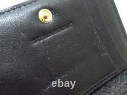 Auth Burberry 3947340 1 Black Patent Leather Business Card Holder