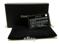 Auth CHANEL Matelasse Green Lambskin Business Card Holder
