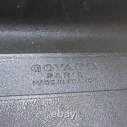 Auth GOYARD Black White Brown Coated Canvas Business Card Holder