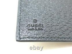 Auth GUCCI GG Marmont 428737 Black Leather Business Card Holder