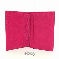 Auth GUCCI Petit Marmont 474748 Pink Leather Business Card Holder