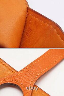 Auth HERMES Dogon Coin case coin purse pass case business card holder