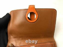 Auth Hermes Compact Dogon Business Pass Card Case Holder Coin Purse