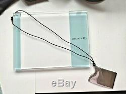 Auth Tiffany & Co. Elsa Peretti Large Business Card Holder Pendant Necklace NR