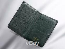 Authenic Louis Vuitton Taiga business card holder USED from JapanN