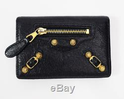 Authentic Balenciaga Arena Leather Card Business Card Holder Wallet Black