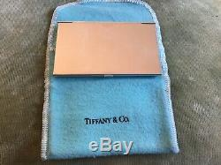 Authentic Elegant Sterling Silver Tiffany & Co Credit Business Card Holder Case