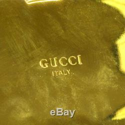 Authentic GUCCI Business Card Holder Gold Gold-tone Italy Vintage AK23104