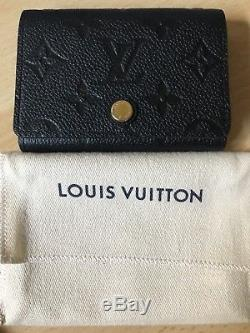 Authentic Louis Vuitton Black Monogram Empreinte Business Card Holder brand new