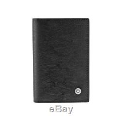 Authentic Montblanc Westside Black Leather Business Card Holder 38034