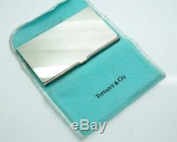 Authentic TIFFANY & CO. Silver Plate Solid Business Card Holder with Pouch