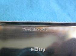 Authentic Tiffany & Co Engine Turned Business card Holder 925 Sterling Card Case