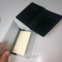 Balenciaga Mens Wallet Black Leather with Business Card Holder, Great Condition