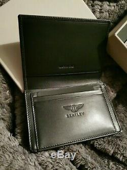Bentley Black Leather BL1750 Business Card Holder Beluga RRP £195