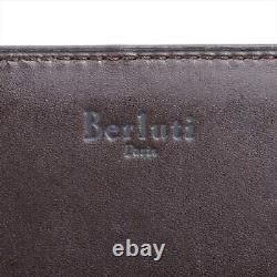 Berluti Calligraphy Leather Business Card Holder Yellow