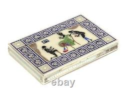 Box, possibly a business card holder. Silver, gilding, enamel. Austria-Hungary