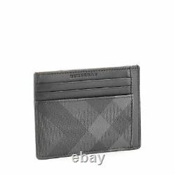 Burberry Business Card Holder Smoked Check Canvas