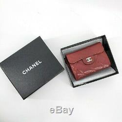 CHANEL CC Coin Business Card Case Purse Holder Wallet Pouch Red Caviar 56016360