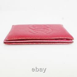 CHANEL Card Case Business Card Holder Ladies' Caviar Skin Pink