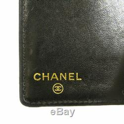 CHANEL Card Case COCO Mark Business Card Holder Caviar skin