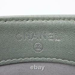 CHANEL Card case Camellia business card holder lambskin Black Used CC Coco