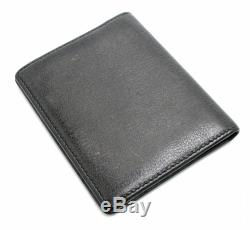 CHANEL Coco mark Camellia card case business card holder leather black bl 1804