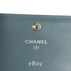 CHANEL Double Stitch Multi Color COCO Mark Business Card Holder from Japan