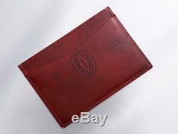 Cartier Ladies Happy Birthday Card Case Business Card Holder EDNF Bordeaux Japan