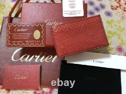 Cartier Python Snake Business Card Holder/card Case/pass Case/with Guarantee