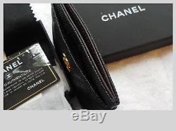 Chanel Credit Business / Credit Card Holder / Sparkly Black Caviar leather
