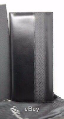 Chopard 95-7056 Black Leather Rubber 72 Business Card Holder Long 4.75x10