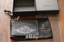 Christian AIR DIOR Card Holder Navy Wings 100% AUTHENTIC With Receipt Business
