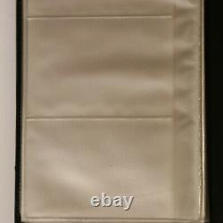 Coach Black Leather Business Card Holder Notebook Holds 96 Cards