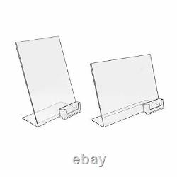 Counter Poster Holder Menu Display Stand and Business Card Dispenser A6 DL A5 A4
