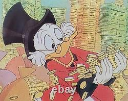 DISNEY Uncle Scrooge RARE & NEW 1989 Laminated Business Card Holder Acme Studio