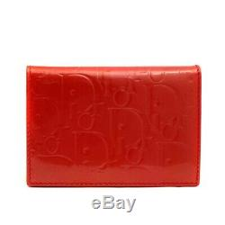 Dior Pass case Trotter business card holder Card Case Patent leather Women