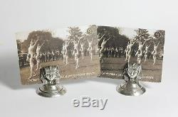 Egyptian revival menu holders business cards sterling silver pharaoh