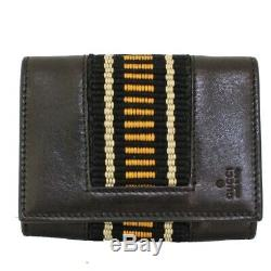 GUCCI 141836 Card Case business card holder Pass case leather unisex