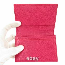 GUCCI 381045 Card Case Swing business card holder Leather