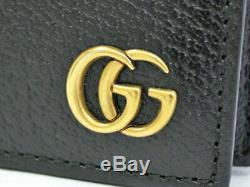 GUCCI business card holder case GG Marmont black leather 428737 90214