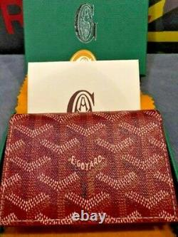 Goyard Red Business Card Holder Wallet NEW! LIMITED EDITION