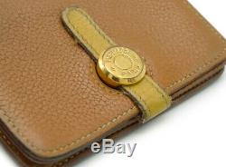 HERMES Dogon card case business card holder by color Togo Gold Brown Brow 1026