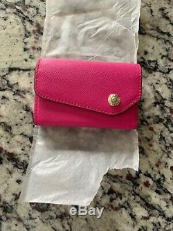 Henri Bendel West 57 Business Card Case Very Berry Pink Nwt