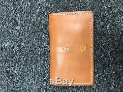 Henry Cuir Small Credit Card Or Business Card Holder Natural Leather